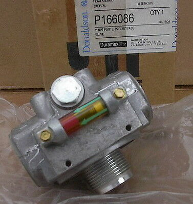 "New Donaldson Filter Head Assembly, P166086, 1""NPT, ByPass, Visual Indicators"