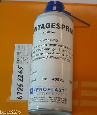 5 x FENOFLEX Montagespray 400ml zur Montage von Verglasungs- & Dichtungsprofilen