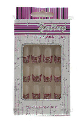 24 Faux Ongles Pret A Poser Manucure  Onglerie Peterandclo 1870