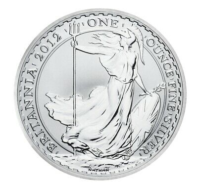 Royal Mint 2012 Silver Bullion Britannia £2 1oz