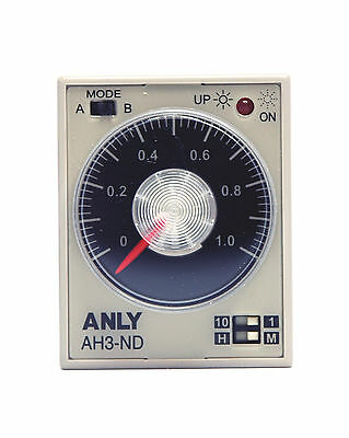1pc Industrial Timer AH3-ND 1M /10M /1Hr /10Hrs AC220V ±10% 50/60Hz ANLY Taiwan