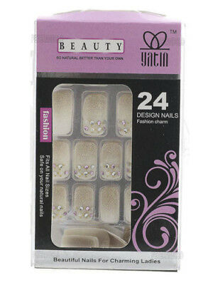 24 Faux Ongles Pret A Poser Manucure  Onglerie Peterandclo Art  Nail 1932