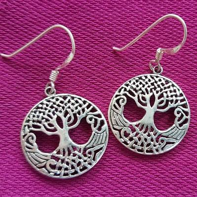 Tree of Life CELTIC hanging earrings sterling silver