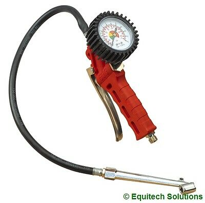 Sealey Tools SA9312 Air Line Tyre Inflator Pressure Gauge Twin Push On Type New