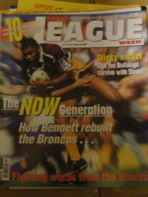 Rugby League Week Vol 31 no 10 March 29 2000 very good condition