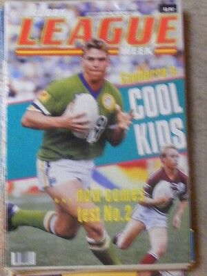 Rugby League Week Vol 23 no 8 March 25 1992 very good condition