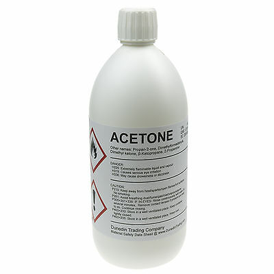 1 Litre (1000ml) High Quality Pure ACETONE - 1L HDPE bottle with Child Proof Cap