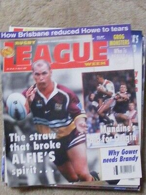 Rugby League Week Vol 30 no 13 May 5 1999 very good condition