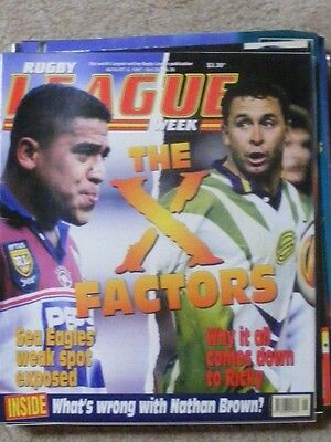 Rugby League Week Vol 28 no 26 August 6 1997 very good condition