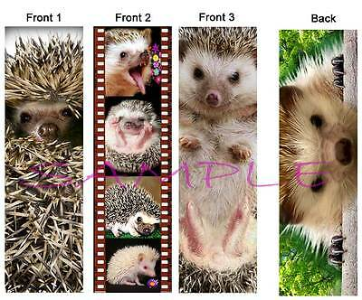 3 set HEDGEHOG BOOKMARK Card Figurine Christmas Ornament ART Book Mark Small Pet
