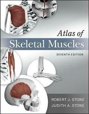 Atlas of Skeletal Muscles by Judith Stone (English) Spiral Book Free Shipping!