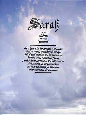 """Clouds"" Name Meaning Prints Personalized (Religious, Christian, Inspirational)"