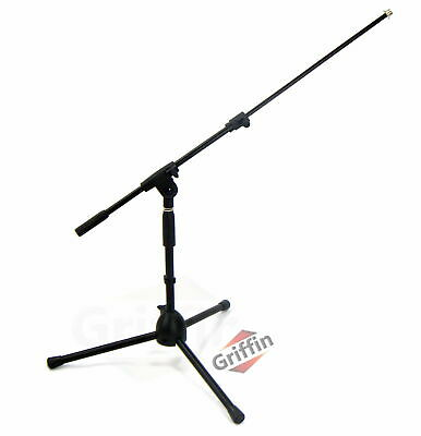 Short Microphone Boom Stand | Low-Profile Mic Holder Guitar Amp Mount Kick Drum