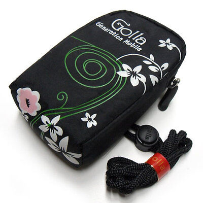 Soft Padded Case Pouch Bag Cover Black Canon PowerShot A2200 A3000 A3100 A3300
