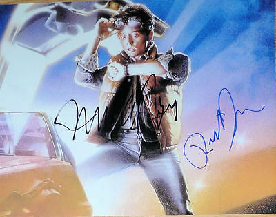 Michael J Fox & Robert Zemeckis signed Back To The Future 8x10 photo Exact Proof