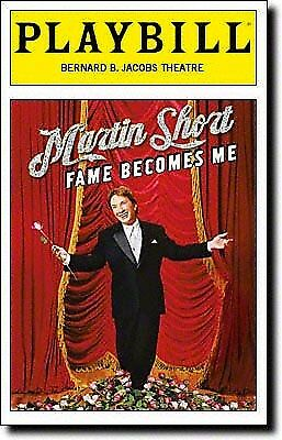 Opening Night New Color Playbill Martin Short Fame Becomes Me  Brooks Ashmanskas