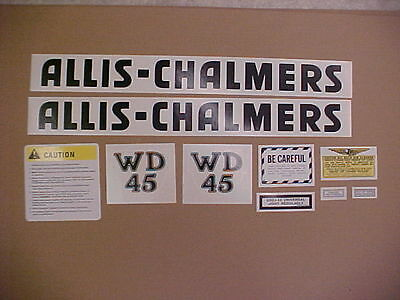 Decal set for Allis Chalmers WD 45 decal set, TRACTOR