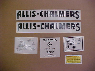 Decal set for Allis Chalmers G decal set, TRACTOR