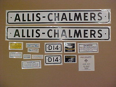 Decal set for Allis Chalmers D14 decal set, TRACTOR