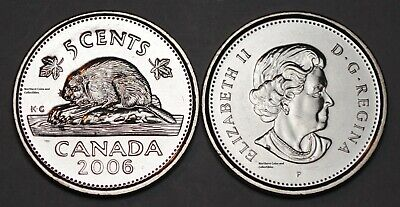 Canada 2006 P 5 cents Nice UNC Five Cents BU Canadian Nickel