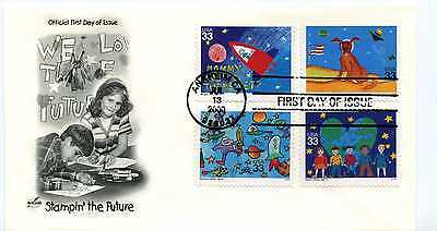 3414-17 Stampin' the Future on one ArtCraft FDC