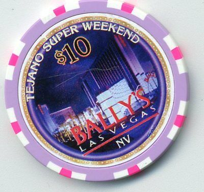 Bally's Tejano Super Weelend  1997 Las Vegas Casino    $10  Chip