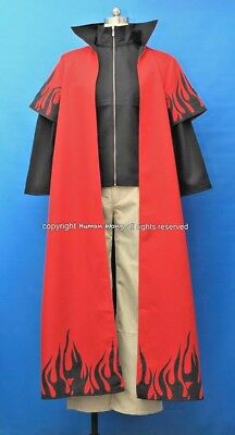 Naruto 6th Hokage Cosplay Costume Size M Red Version Human Cos