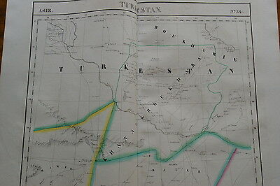 1827 –Map Turkestan – Turkmenistan; Uzbekistan 1st litho map of the region