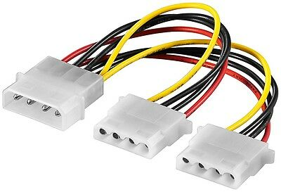 4 PIN Molex Y Kabel Adapter Verteiler Stromadapter intern Splitter 4polig 0,15 m