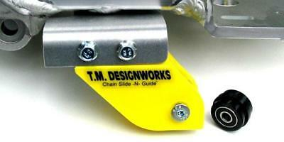 TM Designworks Rear Chain Guide/Mount Suzuki LTZ400 Yellow 03 04 05 06