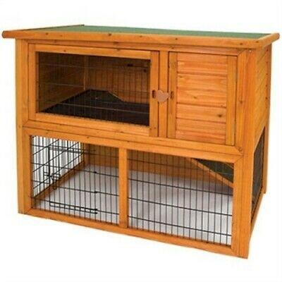 NEW LARGE OUTDOOR BUNNY RABBIT & GUINEA PIG HUTCH PET ANIMAL PEN CAGE HOUSE