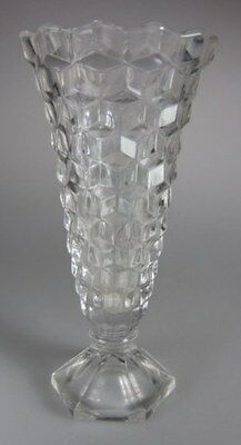 "Fostoria American Small Vase with hex base 6"" tall"