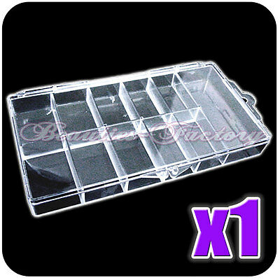 NEW Storage Plastic Empty Box Case Pot For Nail Art Rhinestone Bead Gems 224A
