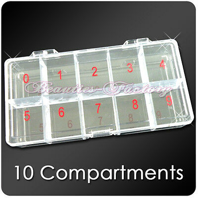 BF 1pc Large Empty Storage Case (10 Compartments) #363A