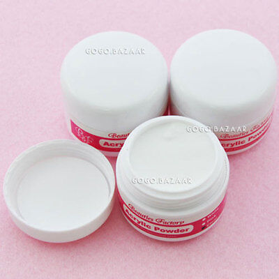 3pcs New Crystal Acrylic Powder For Nail Art Builder Manicure Clear Color  #152