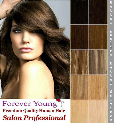 Black Brown Blonde Clip In Human Hair Extension Quick Clip Premium Quality Hair