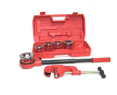 Ratchet Pipe Threader With 5 Dies And Pipe Cutter #2