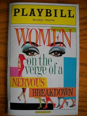 Playbill Women on the Verge of a Nervous Breakdown Patti LuPone  Laura Benanti