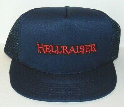 Hellraiser Movie Name Logo Embroidered Patch Baseball Cap Hat NEW