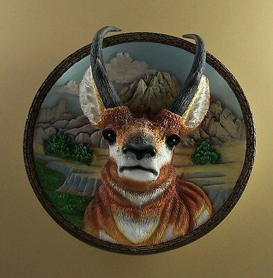 THE PRONGHORN Nature's Nobility Plate 3D #2 Second Issue  Bradford Exch MIB +COA