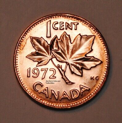 1972 1 Cent Canada Copper Nice Uncirculated Canadian Penny