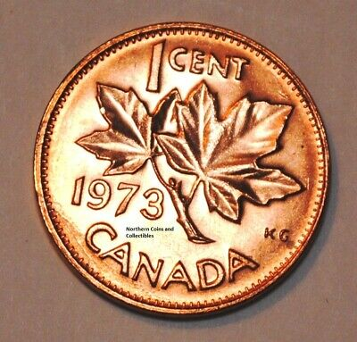 1973 1 Cent Canada Copper Nice Uncirculated Canadian Penny