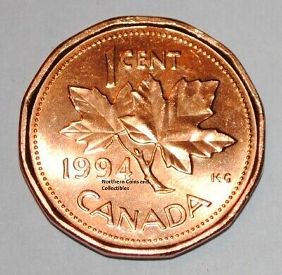 1994 1 Cent Canada Copper Nice Uncirculated Canadian Penny