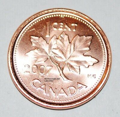 2007 1 Cent Canada Steel Nice Uncirculated Canadian Penny Magnetic