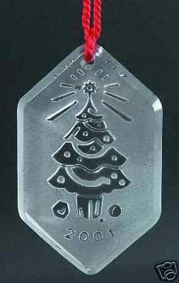 Waterford, 2001 Songs Of Christmas Ornament, O Xmas Tree, Mint In Original Box