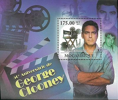 Mozambique 2011 Stamp, MOZ11226B 50 ANN of George Clooney, Actor, Star S/S