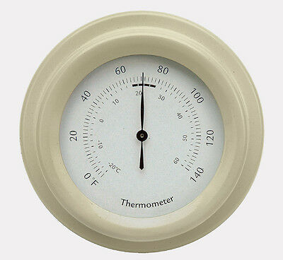 Exterior Small Round Garden Thermometer by Garden Trading