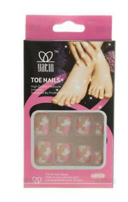 24 Faux Ongles De Pieds A Coller Onglerie Peterandclo Art Nail 2110