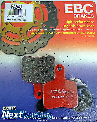 Ebc Tony Kart Brake Pads - Hard Fa540 - Nextkarting Kart Shop -