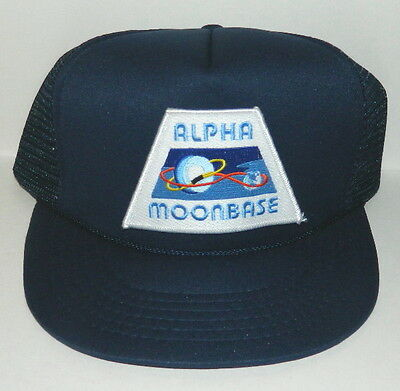 Space: 1999 TV Series Alpha Moonbase Uniform Logo Patch Baseball Hat, NEW UNUSED